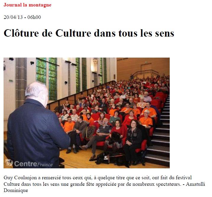 La Montagne - 20 avril 2013 - CDTLS Clermont