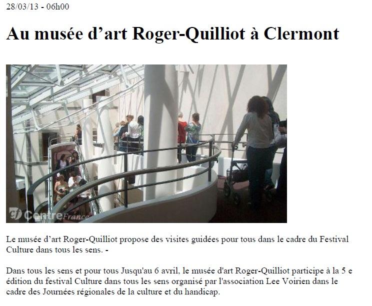 La Montagne - 28 mars 2013 - CDTLS Clermont